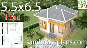 100 One Bedroom Design Small House Design Plans 55x65 With Hip Roof Sam House Plans