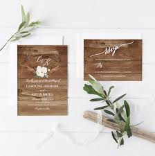 Rustic Wedding Invitation Antler White Floral Invite Printable Suite