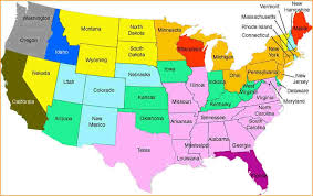 United States Map With Names Elegant Name The Us On A