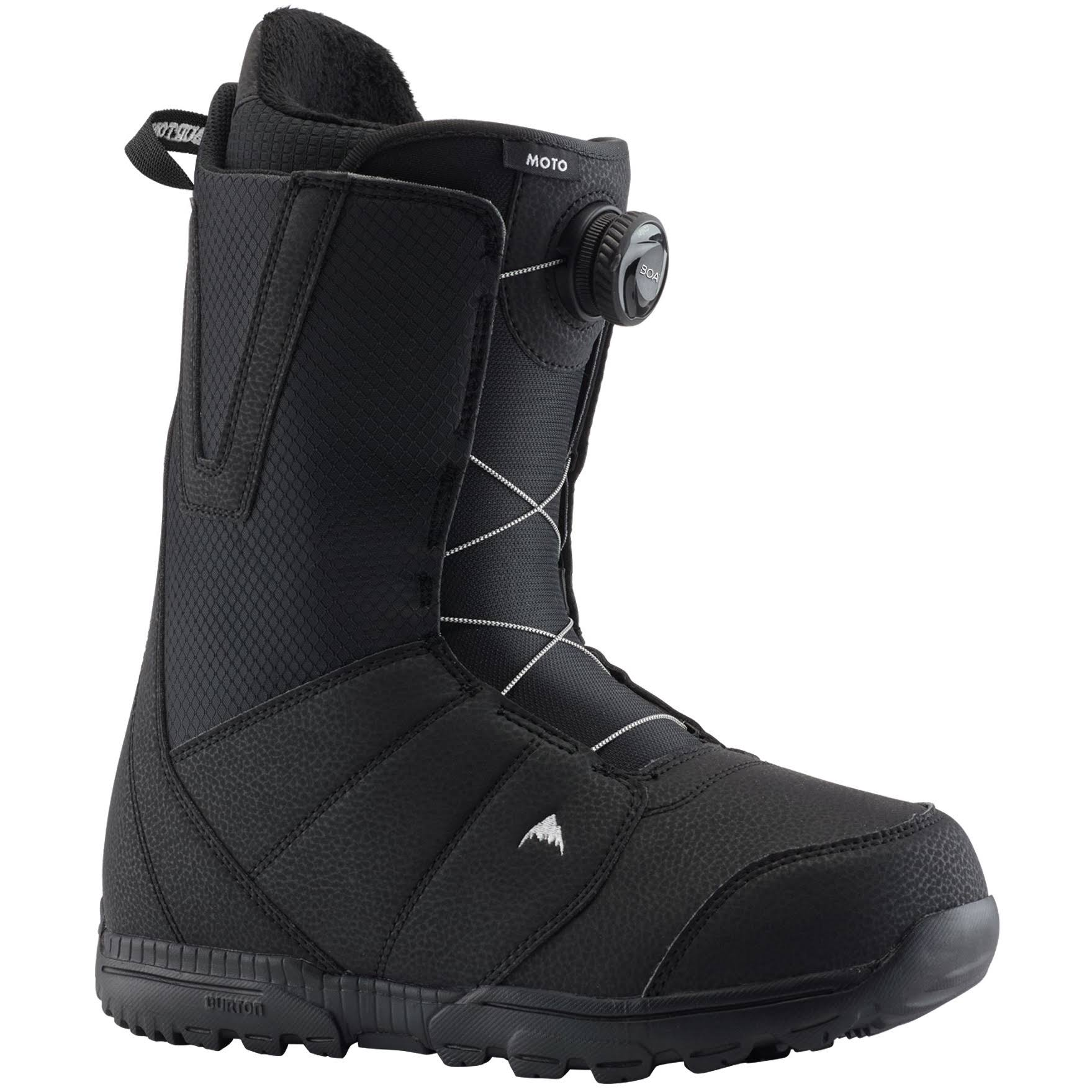 Burton Men's Moto Boa Snowboard Boot - Black, 10 US