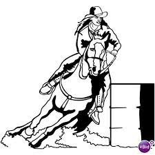 Coloring Pages Of Horses Barrel Racing Horse Colouring