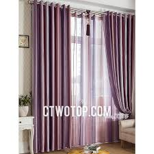 Grey And Purple Living Room Curtains by Blackout Decorative Trendy Purple Pink And Silver Striped Curtains