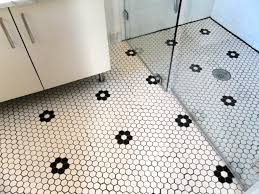fantastic decorating ideas with hexagon bathroom tile white
