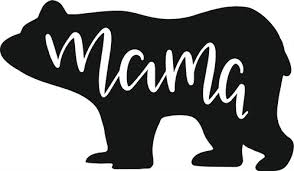 Mama Bear Clipart Black And White