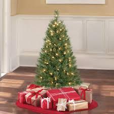 Mini Fiber Optic Christmas Tree Walmart by Holiday Time 3 U0027 Pre Lit Clear Winston Pine Christmas Tree