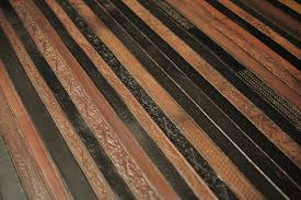 Recycled Leather Belt Flooring 5