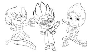 PJ Masks Romeo From Coloring Page