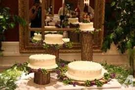 Set Of 4 Rustic Wood Wedding Cake Stands And