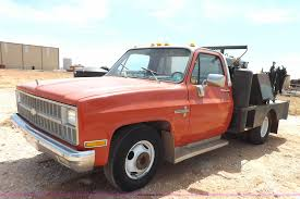 100 Truck Max Scottsdale 1981 Chevrolet 30 Flatbed Truck Item J6965 SO