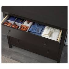 Hemnes Dresser Instructions 3 Drawer by Hemnes Chest Of 3 Drawers Black Brown 108x96 Cm Ikea
