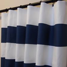 Dillards Curtains And Drapes by Navy Blue White Cabana Horizontal Stripe Curtains Rod Pocket