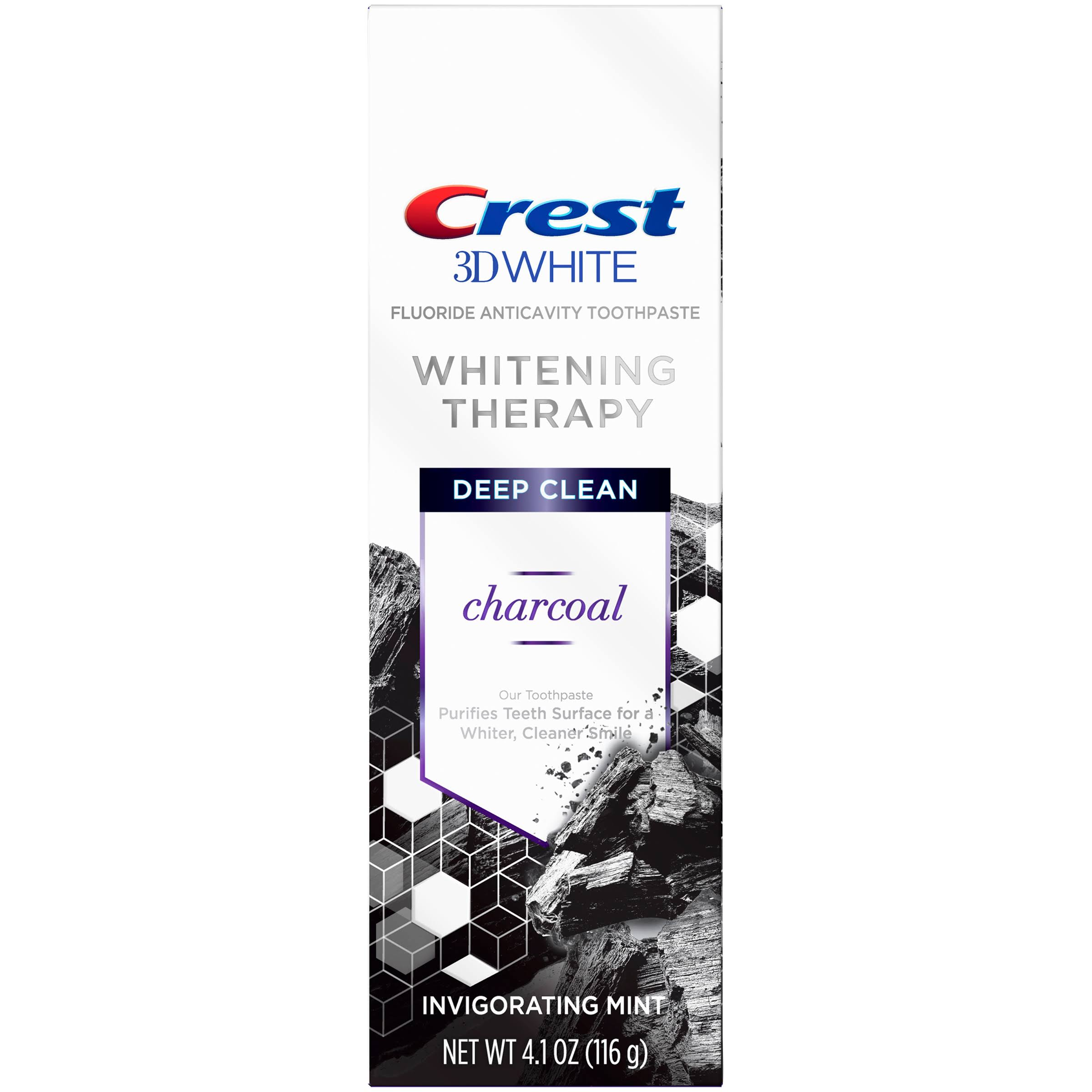 Crest Toothpaste, Charcoal, Deep Clean, 3DWhite - 4.1 oz