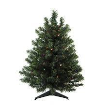 Pre Lit Multicolor Christmas Tree Sale by Shop Northlight 3 Ft Pre Lit Artificial Christmas Tree With 100