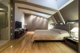 schlafzimmer idee modernes schlafzimmer in beige unterm dach