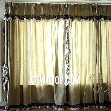 Smocked Burlap Curtain Panels by Black Lace Curtains U2013 Teawing Co