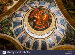 Jose Clemente Orozco Murales Hospicio Cabaas by Allegory Of The Man Of Fire 1936 39 Monumental Fresco By José