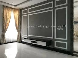 100 Bungalow Design Malaysia Tv Feature Wall Black Wood