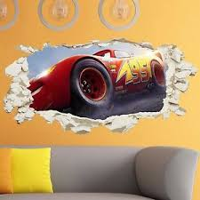 chambre enfant cars cars 3 wall smashed boys bedroom vinyl decal