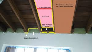 miami vaulted ceiling insulation need to seal insulation