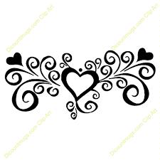 Swirl Clipart Wedding Heart 4