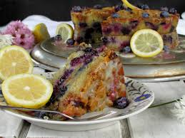 Blueberry Streusel Coffee Cake with Lemon Yogurt Drizzle