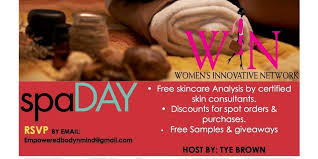 Womans Innovative Network Spa Day Tickets Sun Oct 1 2017 At 230 PM