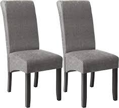 tectake 403627 esszimmerstühle 2er set höhe 106 cm holz grau marmoriert