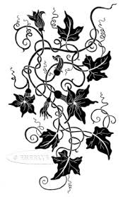 Pumpkin Ivy Tattoo Design final drawing