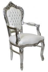 casa padrino barock esszimmerstuhl mit armlehnen weiß