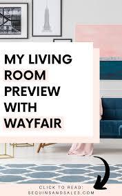 meine wohnzimmer vorschau mit wayfair wohnzimmer