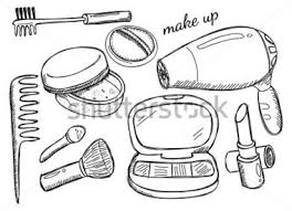 Makeup Kit Clipart Black And White ClipartXtras