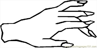 Hand 35 Coloring Page