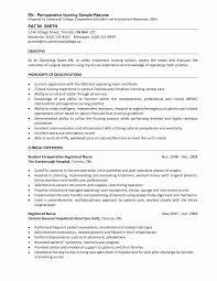 Insurance Agent Resume Job Description Beautiful Perioperative Nurse O