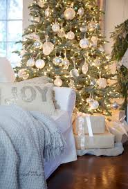 French Country Cottage Decorating Ideas by White U0026 French Blue Sparkle Christmas Tree French Country Cottage