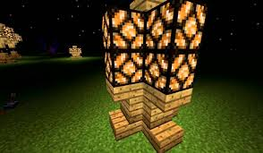Minecraft Glowstone Lamp Post by Minecraft 1 2 2 Redstone Lamp Design Youtube