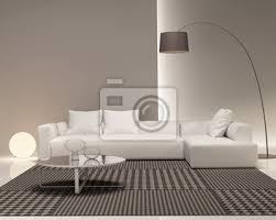 moderne minimal weiß und beige wohnzimmer poster myloview