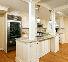 Load Bearing Columns Built Into Island Alexandria Timeless Kitchen Addition