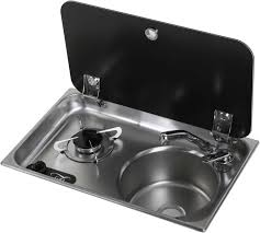 Coleman Portable Sink Uk by Can Fl1323 1 Burner Combination Unit With Glass Lid Tap