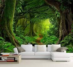 tapete 3d tropen wälder wasserfall bäume dschungel natur