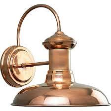 progress lighting brookside collection 1 light copper wall lantern