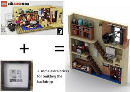 lego moc the big theory in photo frame by beewiks