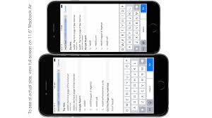 iPhone 6 and 6 Plus actual size on your screen includes keyboard