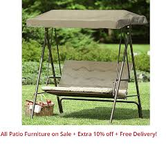 Essential Garden 2 Seat Swing 8999 Reg 179 Free Shipping KMart Patio Furniture Sale Extra 10 Off Delivery On All Items