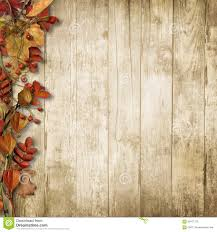 Vintage Wooden Background With Autumn Rowan And Leaves