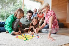 Germany Bavaria Nuremberg Family Playing Board Game Together