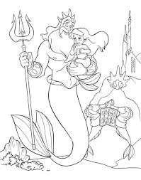 Princess Ariel Color Pages Little Mermaid Coloring Ursula The Young Loves Father King Have Fun Picture