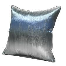 luxus blau silber kissen abdeckung 45x45 dekorative wurf kissen abdeckung für wohnzimmer sofa bett kissenbezug christamas wohnkultur