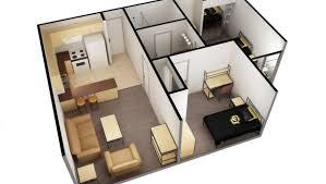 2 Bed 1 Bath Single Apartment