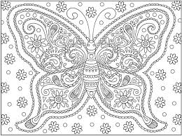 Detailed Adult Coloring Pages Printable Butterfly 3120