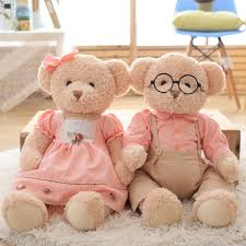 Aliexpresscom Super Kawaii 1pcs Big Size 65cm Couple Teddy Bear
